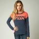FOX IDENTIFIED SWEATER ORANGE/NAVY LADY 16
