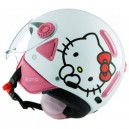 CASCO JET VEMAR HELLO KITTY WHITE